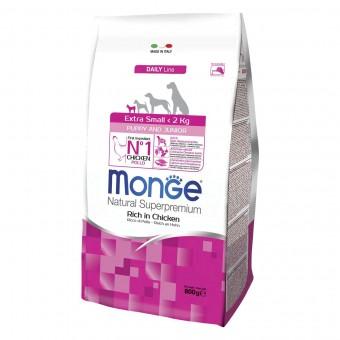 Сухой корм для щенков Monge Daily Line - Extra Small Puppy & Junior (0,8 кг)