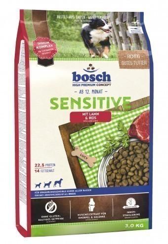 Сухой корм для собак Bosch Sensitive, ягнёнок и рис, 3 кг