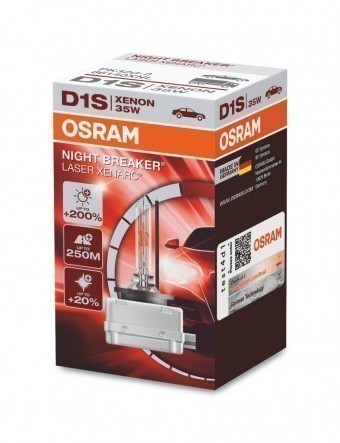 Ксеноновая лампа Osram D1S Xenarc Night Breaker Laser 4500K (+200%)