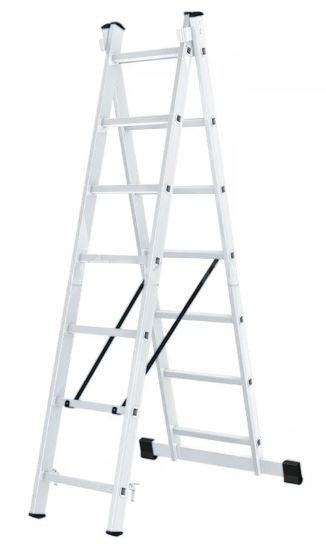Лестница алюминиевая двухсекционная Вихрь ЛА 2х7