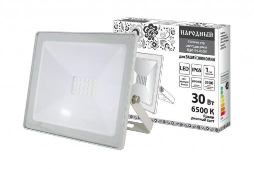 Прожектор светодиодный TDM СДО-04-30Н (6500К, IP65, 30Вт, 2400Лм, белый)