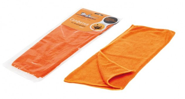 Салфетка AirLine A-02 (микрофибра, оранжевая)