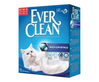 Наполнитель кошачьего туалета Ever Clean Multi Crystals (бентонит, 6 кг, 6 л, без запаха)