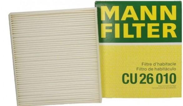 Фильтр салонный MANN-FILTER CU 26 010