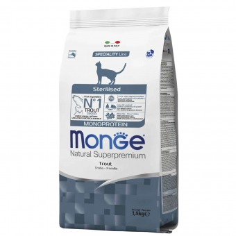 Сухой корм для кошек Monge Speciality Line - Sterilised Trout (1,5 кг)