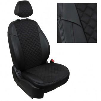 Чехлы Автопилот Kia Sportage III (2010>) - черные, алькантара, ромб