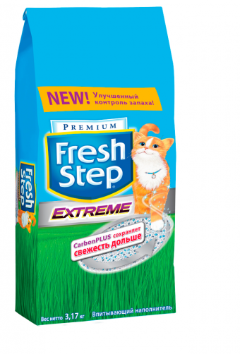 Наполнитель кошачьего туалета Fresh Step Extreme (глиняный, 3,2 кг, 6 л, без запаха)