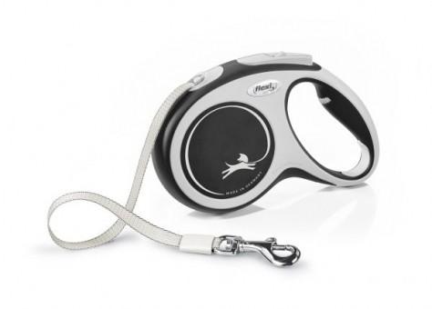 Рулетка Flexi Comfort New M, лента, 5 м, серо-черный