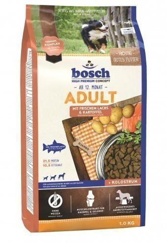 Сухой корм для собак Bosch Adult, лосось и картофель, 1 кг