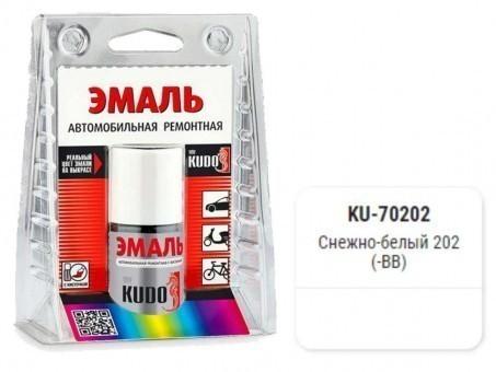 Краска-кисточка KUDO KU-70202 (ВАЗ, 202, снежно-белый)