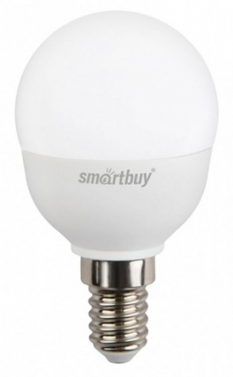 Лампа Smartbuy P45 5W 4000K E14 (470 Лм, шарик)