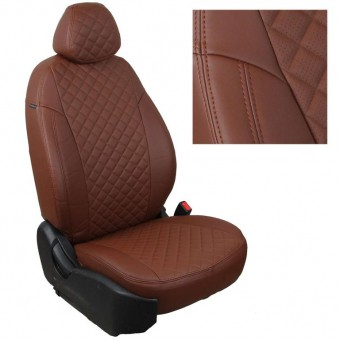Чехлы Автопилот Hyundai Tucson III (2015>) - коричневые, ромб