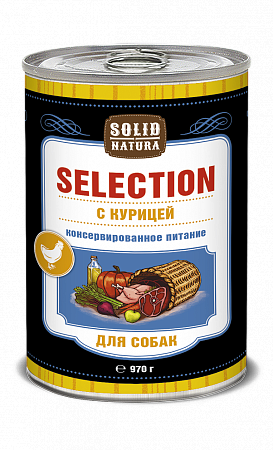 Консервы для собак Solid Natura Selection, курица (970 г)