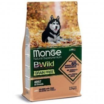 Сухой корм для собак Monge BWild Grain Free - Adult Salmone (беззерновой, 2,5 кг)