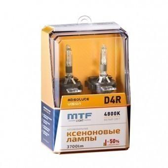 Ксеноновые лампы MTF Absolute Vision D4R 4800K (+50%, 2 шт)