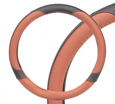 Оплетка руля AirLine СМ-05M (черно-коричневая)