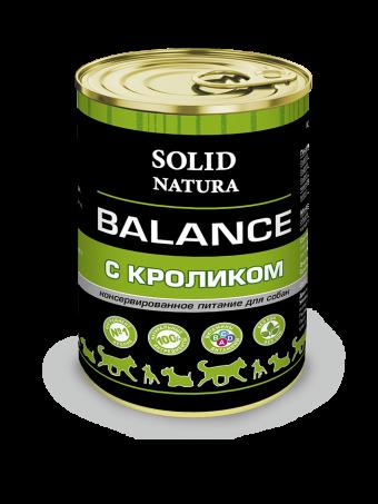 Консервы для собак Solid Natura Balance, кролик (340 г)