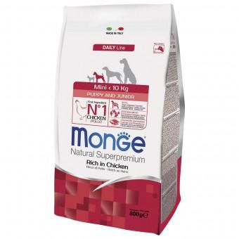 Сухой корм для щенков Monge Daily Line - Mini Puppy & Junior (0,8 кг)