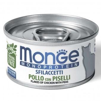 Консервы для кошек Monge Monoprotein - Solo Pollo con Piselli (80 г)