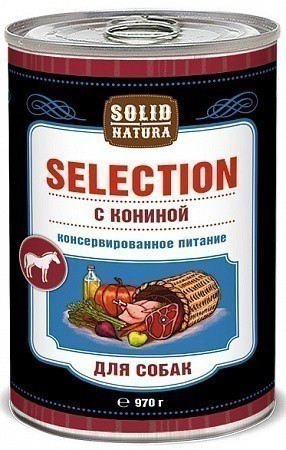 Консервы для собак Solid Natura Selection, конина (970 г)