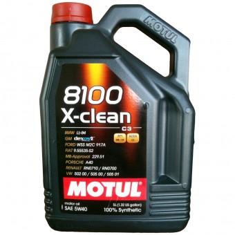 Масло моторное Motul 8100 X-clean 5W40 (5 л)