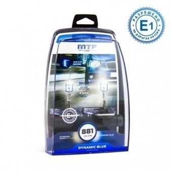 Лампы MTF Dynamic Blue H27 881 (12 V, 27 W, 2 шт)