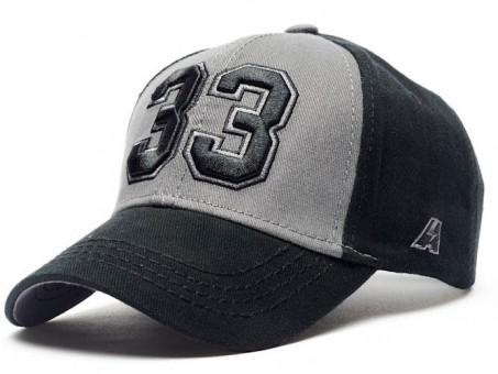 Бейсболка КХЛ №33, черн.-сер., р.55-58, арт.106704