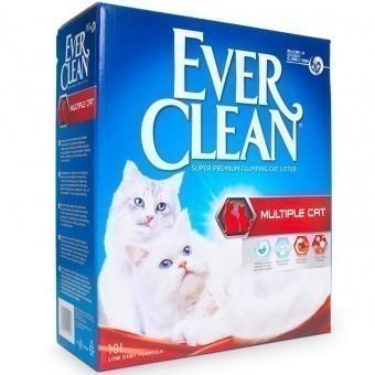 Наполнитель кошачьего туалета Ever Clean Multiple Cat (глиняный, 10,0 кг, 10 л, свежесть)