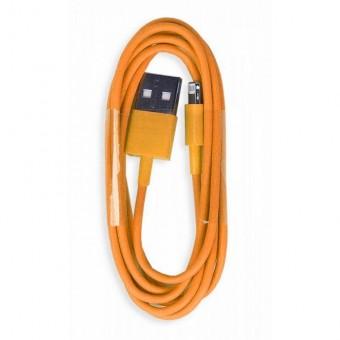 Кабель зарядки Smartbuy 512 Color, USB - iPhone (1 м, оранжевый)