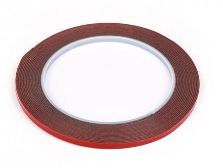 Скотч двусторонний силиконовый усиленный 5 м x 4 мм (серый)