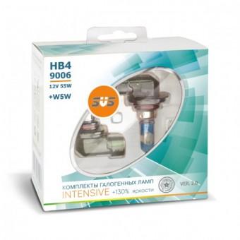 Лампы SVS Intensive +130% HB4 9006 (12 V, 55W, +2 W5W)