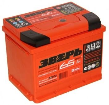 Аккумулятор Зверь 6СТ 65 3-L 65 А/ч п.п. ток 640  242 х 175 х 190