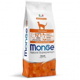 Сухой корм для кошек Monge Speciality Line - Sterilised Duck (10 кг)
