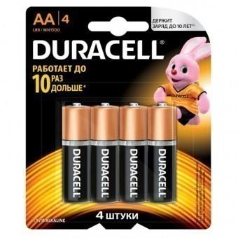 Батарейка АА (LR6) Duracell Basic (блистер, 4 шт)