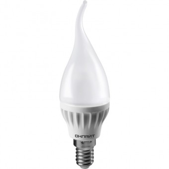 Лампа Онлайт OLL-FC37-6-230-4K-E14-FR (470 Лм, свеча на ветру)