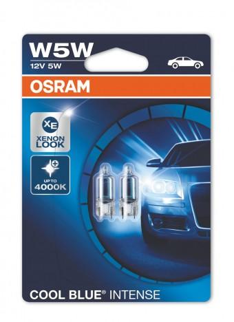 Лампы Osram W5W Cool Blue Intense (12 В, блистер, 2 шт)