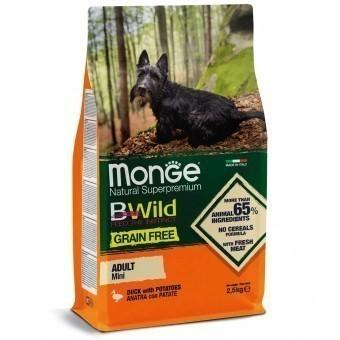 Сухой корм для собак Monge BWild Grain Free - Mini Adult Anatra (беззерновой, 2,5 кг)