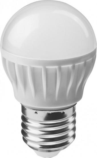 Лампа Онлайт OLL-G45-8-230-6.5K-E27 (640 Лм, шарик)