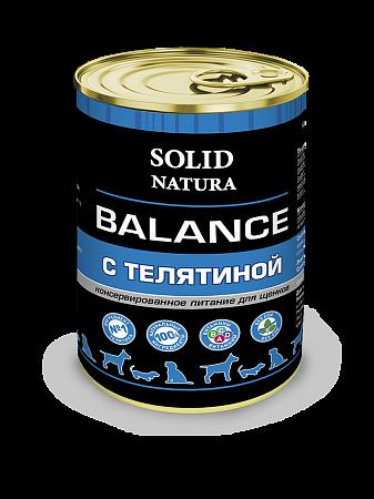 Консервы для щенков Solid Natura Balance, телятина (340 г)