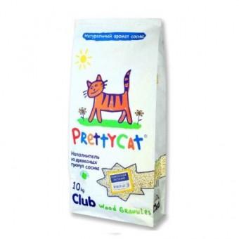 Наполнитель кошачьего туалета Pretty Cat Wood Granules (древесный, 10,0 кг, 30 л, без запаха)