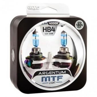 Лампы MTF Argentum +80% HB4 9006  (12 V, 55 W, 2 шт)