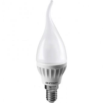 Лампа Онлайт OLL-FC37-8-230-4K-E14-FR (600 Лм, свеча на ветру)