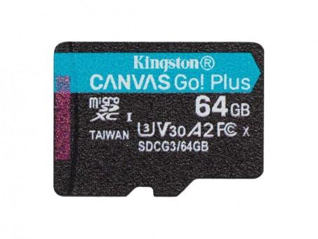 Карта памяти microSD Kingston Canvas Go! Plus 64 Gb (class 10, U3)