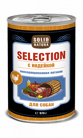 Консервы для собак Solid Natura Selection, индейка (970 г)
