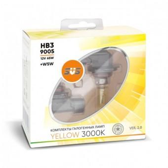 Лампы SVS Yellow 3000K HB3 9005 (12 V, 65W, +2 W5W)