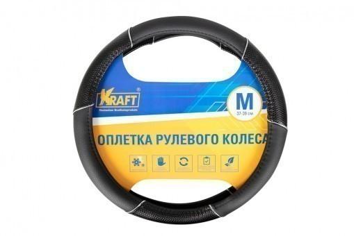 Оплетка руля Kraft 318M (черная)