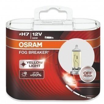 Лампы Osram H7 Fog Breaker (12 В, 55 Вт, +60%, блистер, 2 шт)