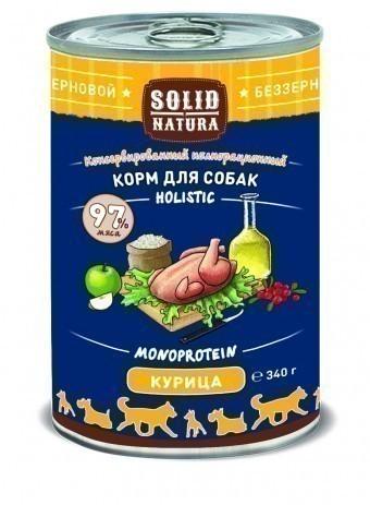 Консервы для собак Solid Natura Holistic, курица, 340 г