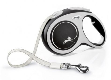 Рулетка Flexi Comfort New L, лента, 5 м, серо-черный