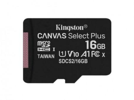 Карта памяти microSD Kingston Canv Select Plus 16 Gb (class 10, U1)